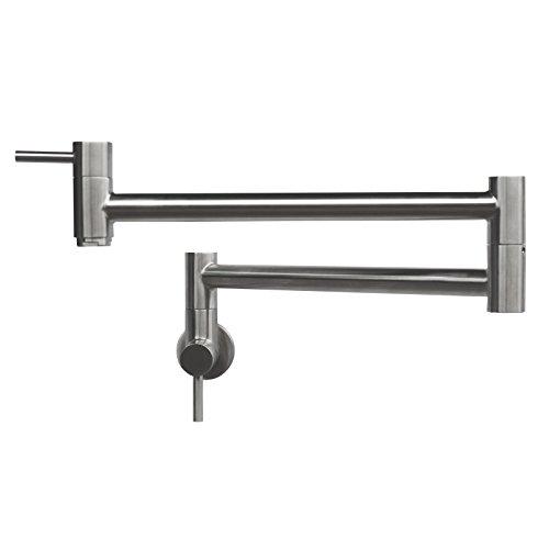 Geyser GF45-B Stainless Steel Pot Filler Kitchen Faucet Wall Mount 2 Handles (Nickel Pot Filler compare prices)