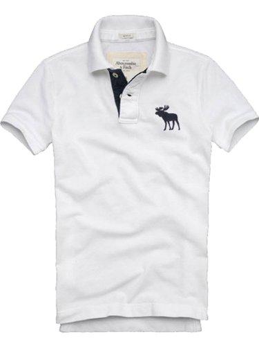 アバクロ アバクロンビー&フィッチ ポロシャツ メンズ 並行輸入品 (S, ホワイト)