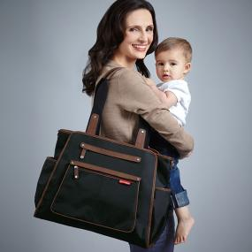 Skip Hop Grand Central Diaper Bag, Black