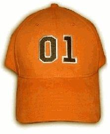 The Dukes of Hazzard 01 Orange Fitted Baseball Cap Hat