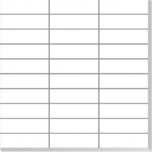 01P-M-30x30 White Porcelain Tile Mosaic Sheet Stack Bond