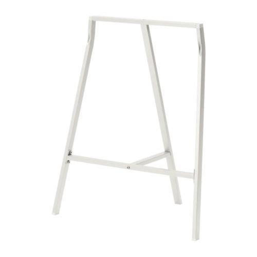 IKEA-Tischbock-LERBERG-Klappbock-Frame-Stand-BxTxH-60-x-39-x-70-cm-max-Belastung-50-kg-Stahl-WEISS
