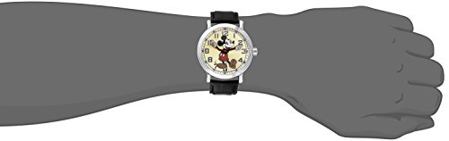 "Disney Men's 56109 ""Vintage Mickey Mouse"" Watch with Black Leather Band 1"