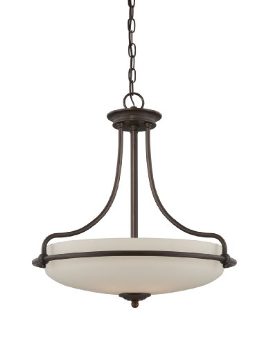 B006Y7XR58 Quoizel GF2821PN Griffin 4 Light Chain Hung Pendant Light