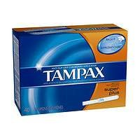 Tampax Tampons with Cardboard Applicator, Super Plus, 40 ea, 1 pack Pack of 2
