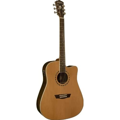 Washburn WD21SCE Dreadnought Cutaway Acoustic-Electric Guitar - Natural reviews