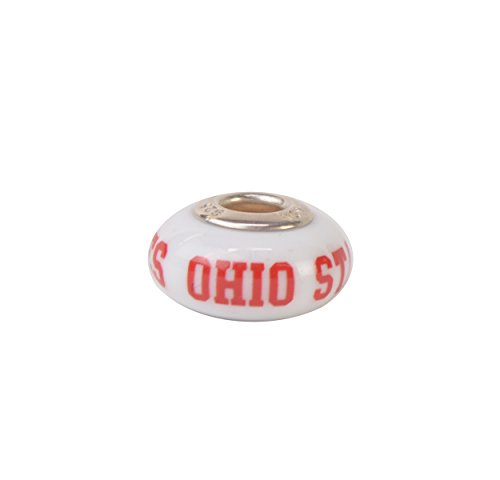 The Ohio State University NCAA Fenton Milk Glass Collegiate Bead OSU