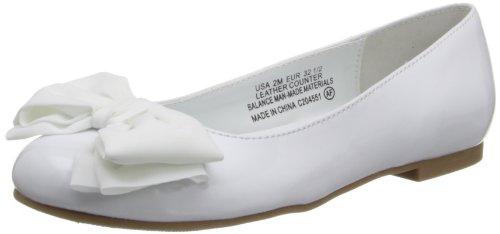 Girl's Nina 'Danica' Flat White Patent 4.5 M