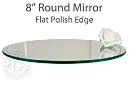 8 Inch Round Mirror: 1/4 Inch Thick, Flat Polish Edge (10 ea. in 1 box) by TroySys