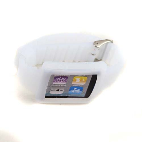 Silicone Wrist Strap Wrist Band Watch Band for iPod Nano 6th White