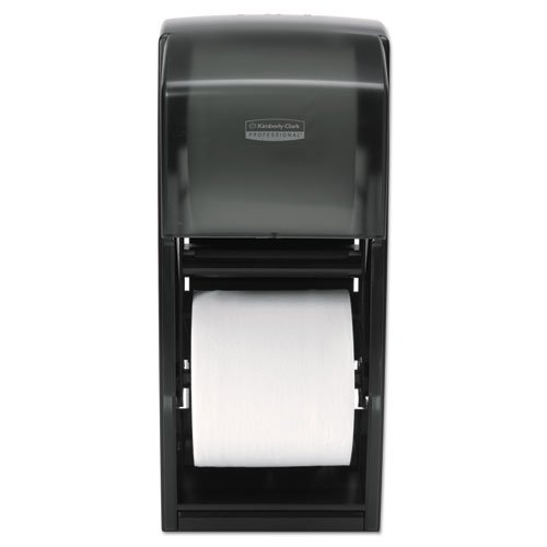 KIMBERLY-CLARK PROFESSIONAL* Coreless Double Roll Bath Tissue Dispenser, 6 x 6 6/10 x 13 6/10, Plastic, Smoke - Includes one each. kitcpm04307eakim11329 value kit kimberly clark electronic cassette skin care dispenser kim11329 and fabuloso all purpose cleaner cpm04307ea