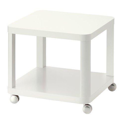 IKEA-TINGBY-Beistelltisch-mit-Rollen-in-wei-50x50cm