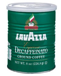 "Lavazza Italian ""Decaffeinato"" Ground Espresso (6 X 8.0 Oz Cans)"
