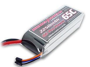 Thunder Power RC 2250mAh 3-Cell/3S 11.1V G6 Pro Power 65C LiPo Battery