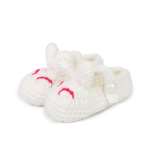 Touch Socks Baby-Girls Infant Bunnies Lovely Bootie (White) front-1051240