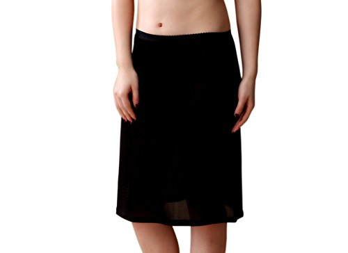 Ultra Thin 100% Silk Half Slip dress Pettipants Black XXL (Silk Pant Liner compare prices)