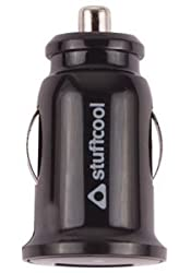 Stuffcool 1A ELF Single USB Car Charger for Smartphone / Mobile - Black (CAELF-BLK)
