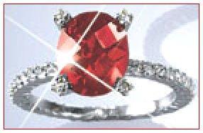 BRAND NEW AVON 5.25-CARAT RED CUBIC ZIRCONIA CZ RING