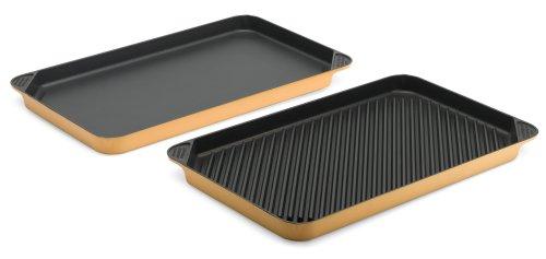 Chefs Design 6380 Global Gold Grill / Griddle Set