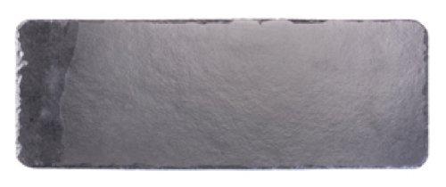 Platos individuales Slate fuente rectangular 50 x 17 cm/tabla de cortar queso, negro