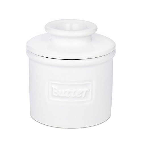 Butter Bell Crock Cafe Collection Pot à beurre en porcelaine Blanc