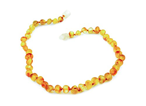 Healing Hazel 100% Balticamber Baby Necklace, Honey Raw