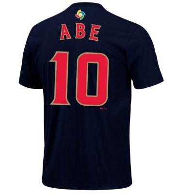 阿部 慎之助 2013 WBC 日本代表 ネーム&ナンバー Tシャツ #10 /ネイビー
