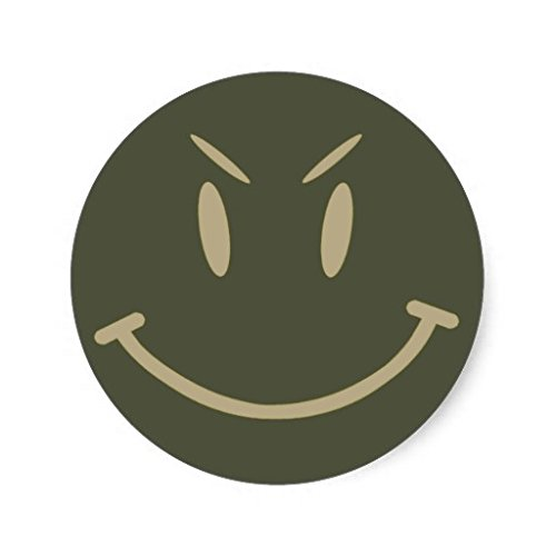 Scope Cap Sticker, Evil Smiley Face, Style 2