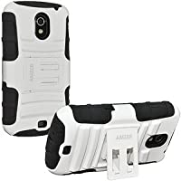 Amzer 95272 Hybrid Kickstand Case - White/ Black For Samsung GALAXY Nexus, Google GALAXY Nexus