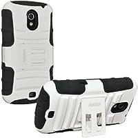 Amzer 95272 Hybrid Kickstand Case - White/ Black for Samsung GALAXY Nexus, Google GALAXY Nexus