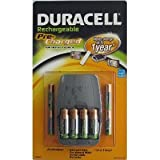 Duracell Pre Charged Rechargeable Nimh Batteries Combo, one charger, 4 AA and 4 AAA batteries