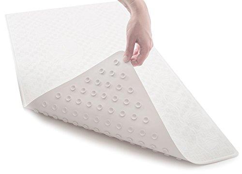 "[50% OFF - Sale Ends Dec 24] Non Slip Bathtub Mat (Extra Long) - Non-Toxic (PVC- & BPA-Free), Anti Bacterial, Latex-Free Natural Rubber | Original GripTight (TM) Technology | 36"" x 18"""