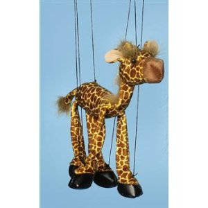 Zoo Animal (Giraffe) Small Marionette from Sunny Puppets