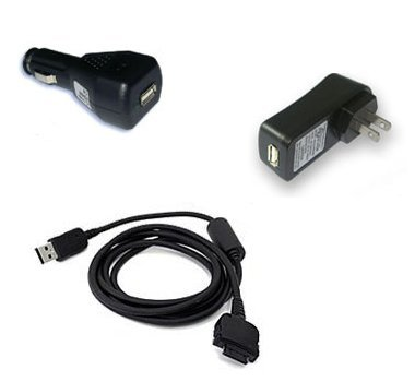 New For HP iPAQ rz1710 Sync and Charge Cable - Car Charger - Travel Charger Bundle (US Standard)