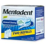 Mentadent Fluoride Toothpaste Advanced cleaning Baking Soda and Peroxide, Crystal Ice, Two-5.25 oz Refills