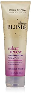 John Frieda Sheer Blonde Colour Renew Tone-Correcting Shampoo, 8.45 Ounces (Pack of 2)
