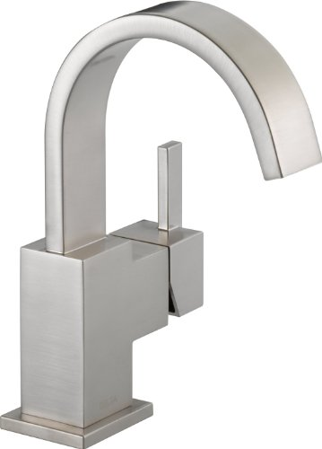 Delta 553LF-SS Vero Single Handle Centerset Lavatory Faucet, Stainless