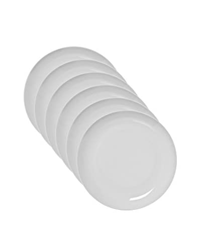 10 Strawberry Street Set of 6 Royal Coupe Dinner Plates, White