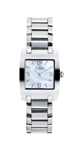 Davosa Dreamline Tonneau Women's Quartz Watch with Mother of Pearl Dial Analogue Display and Silver Stainless Steel Bracelet 16855884