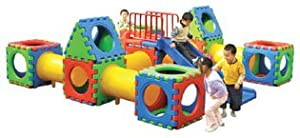Grand Cube Play Fifty Eight Piece Play Center With Slide
