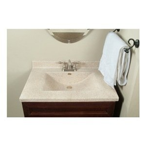 Imperial Vw2522capss Center Wave Bowl Bathroom Vanity Top 25 Inch Wide By 22 Inch Deep