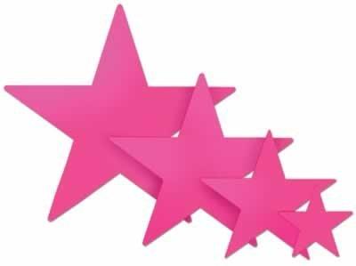 Foil Star Cutout (cerise) Party Accessory  (1 count)