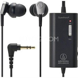 Audio-Technica ATH ANC23 QuietPoint - Headphones ( in-ear ear-bud ) - active noise canceling