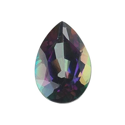 7.00 Cts of AA 15x10 mm Pear Loose Mystic Green Topaz ( 1 pc ) Gemstone