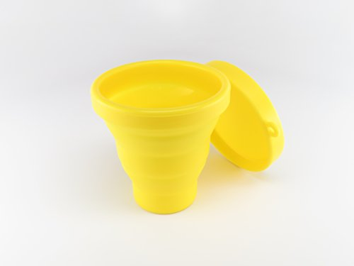 Dandelion Cup Menstrual Cup Sanitizing Container for Soaking and Cleaning Menstrual Cup - Yellow