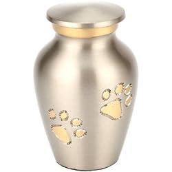 Urns UK Matlock Urne für Haustiere, ca. 7,6cm, Zinnoptik