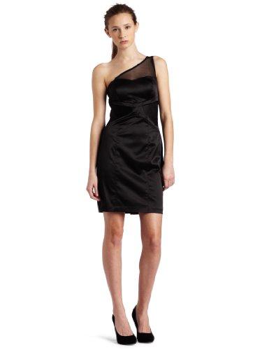 XOXO Juniors One Shoulder Dress, Black, 0/0