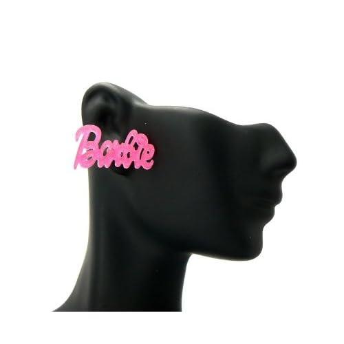 New NICKI MINAJ BARBIE Post Glittered Pink Earring