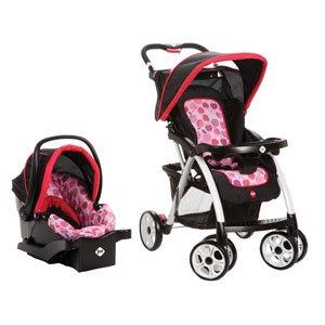 safety 1st saunter travel system applesauce pink black infant car seat stroller. Black Bedroom Furniture Sets. Home Design Ideas