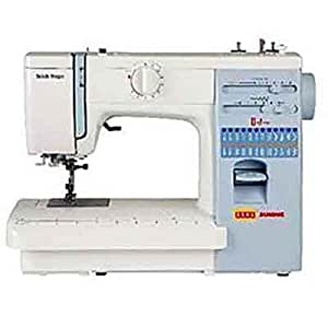 Usha Janome Automatic Stitch Magic 85 Watt Sewing Machine White and Blue  available at Amazon for Rs.15350